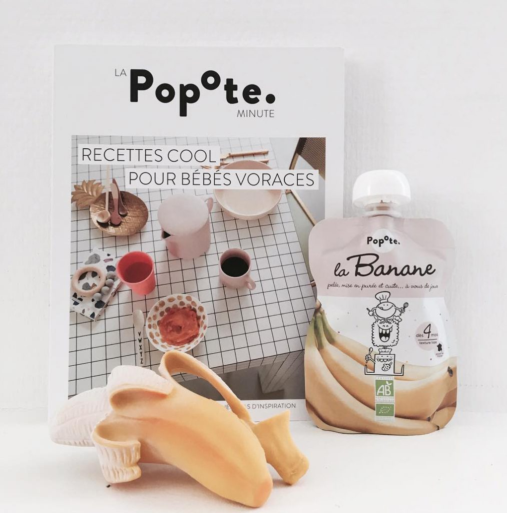 Livre de recettes Popote avec gourde Popote à la banane et jouet en forme de banane