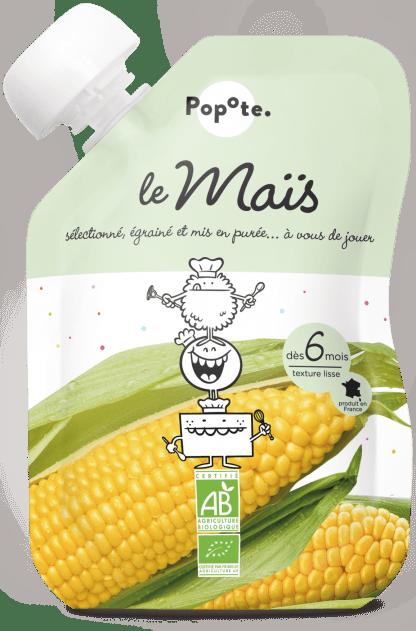 Gourde de purée de maïs pour bébé bio