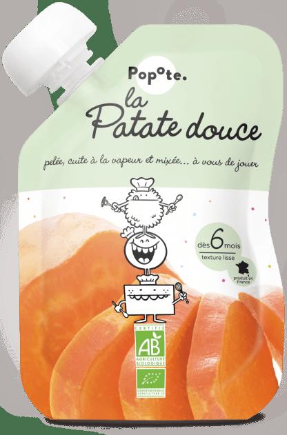 Gourde de purée de patate douce pour bébé bio