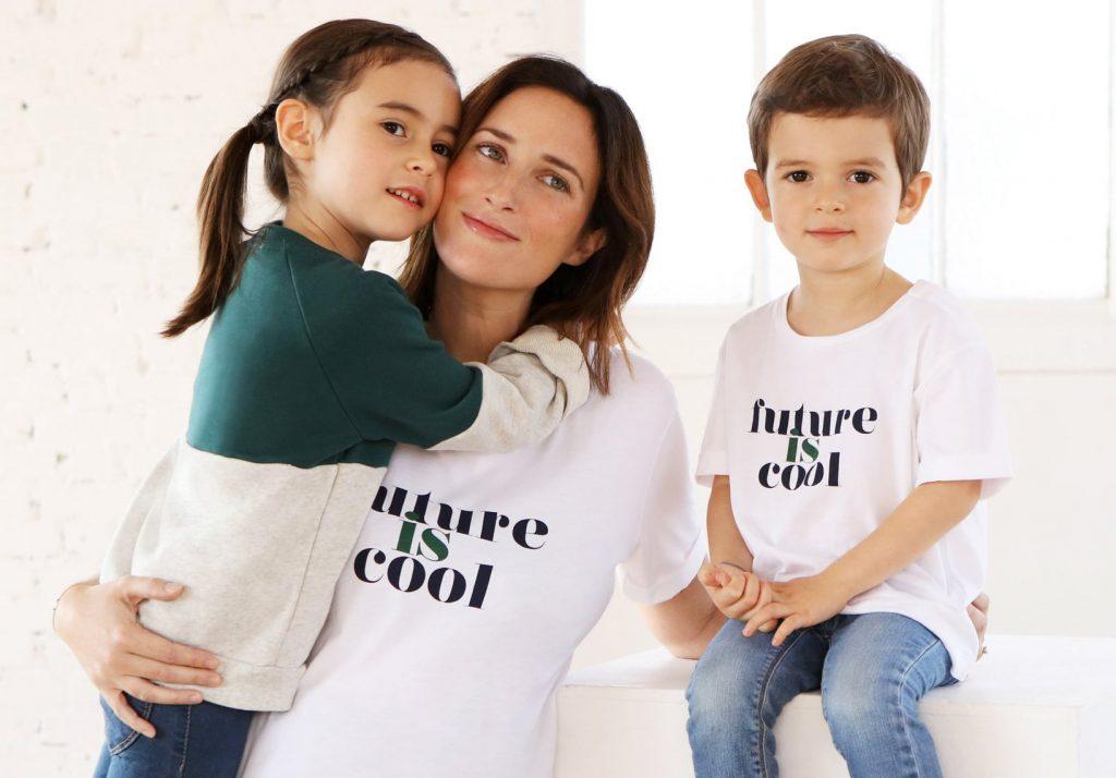 Maman avec ses deux enfants