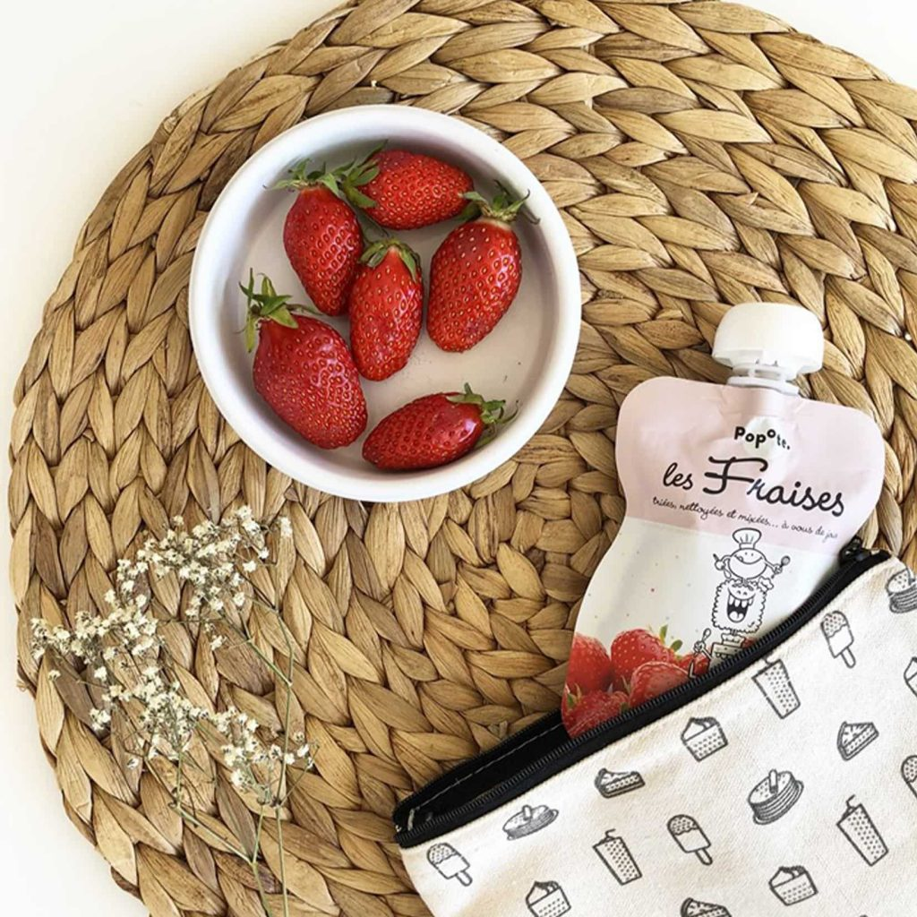 Popote avec fraise