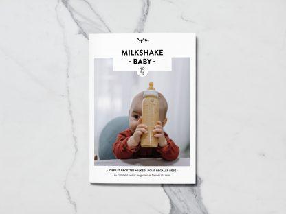Couverture magazine recettes et conseils milkshakes pour bébé