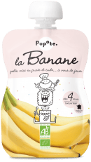 Gourde de compote de banane pour bébé bio