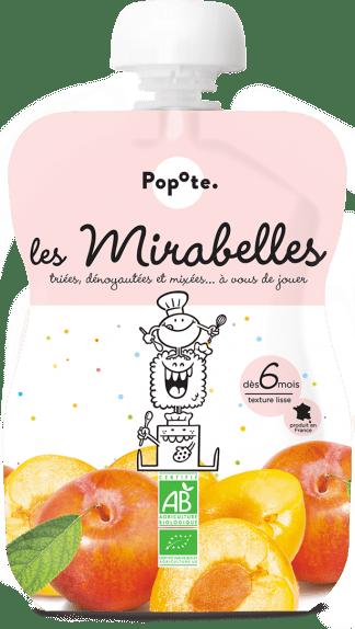 Gourde de compote de mirabelles pour bébé bio