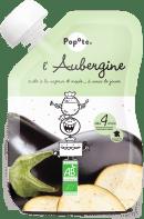 Gourde de purée d'aubergine pour bébé bio