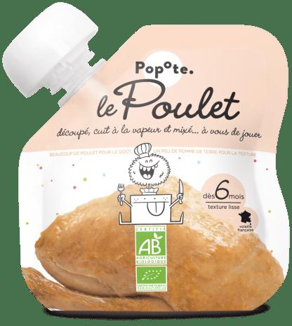 Gourde de purée de poulet pour bébé bio