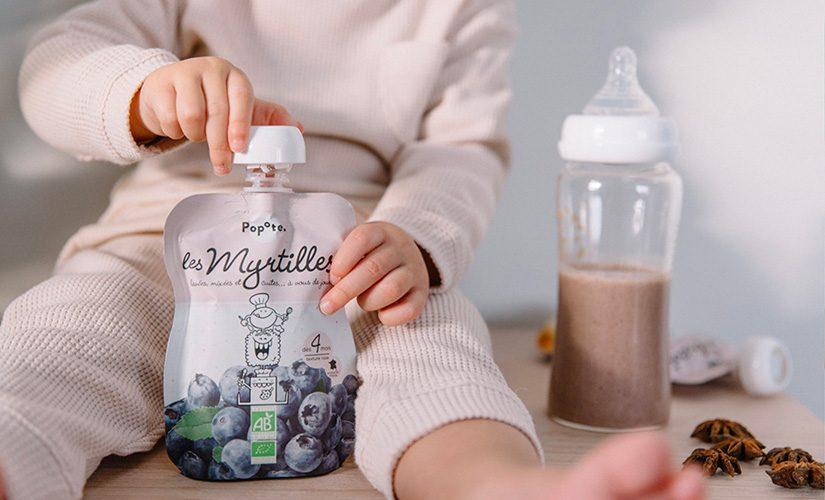 Compote de myrtille pour bébé